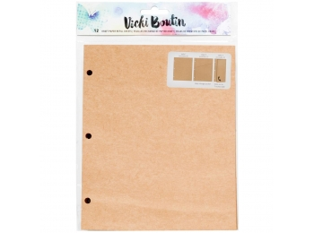"Vicki Boutin Mixed Media Junque Journal Refill 8""X6.5"" Kraft Paper, 3 Styles"
