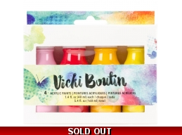 Vicki Boutin Mixed Media Acrylic Paint 1.7oz 4/Pkg - VBAPS 76792