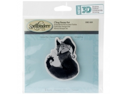 Winter Fox - Spellbinders 3D Cling Stamp 2.75