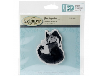 "Winter Fox - Spellbinders 3D Cling Stamp 2.75""X4"""