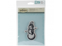 Whimsical Snowman - Spellbinders 3D Cling Stamp 2.75