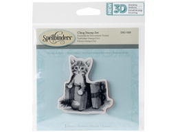 Furry Gift - Spellbinders 3D Cling Stamp 2.75