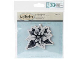Poinsettia - Spellbinders 3D Cling Stamp 2.75