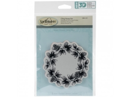 Wreath - Spellbinders 3D Cling Stamp 4