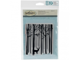 Snow Forest - Spellbinders 3D Cling Stamp 4