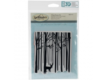 "Snow Forest - Spellbinders 3D Cling Stamp 4""X5.75"""
