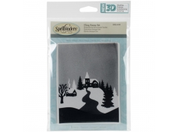 Winter Village - Spellbinders 3D Cling Stamp 4
