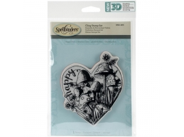 Happy Heart  - Spellbinders 3D Cling Stamp 4