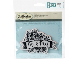 Mr & Mrs - Spellbinders 3D Cling Stamp 2.75