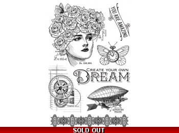 Graphic 45 Imagine Clear Stamp Set - DREAM