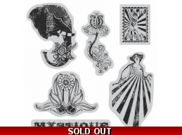 Graphic 45 Hampton Art Cling Stamp Set - Le Cirque IC0093