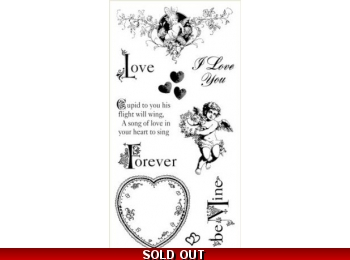 Graphic 45 Sweet Sentiments Cling Stamp Set 2 291