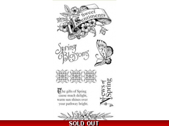 Graphic 45 Sweet Sentiments Cling Stamp Set 1 290