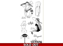 Graphic 45 Couture Cling Stamp Set 2 288