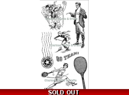 Graphic 45 Good 'OL Sport Cling Stamp Set 3 301