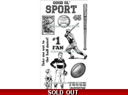 Graphic 45 Good 'OL Sport Cling Stamp Set 1 299
