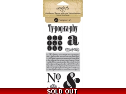 Graphic 45 Typography CLING STAMP SET 1 282