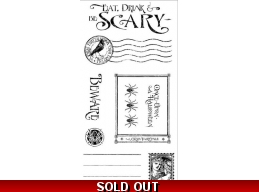 Graphic 45 An Eerie Tale Cling Stamp Set 3 0313
