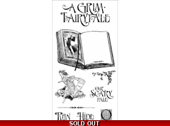 Graphic 45 An Eerie Tale Cling Stamp Set 1 0311