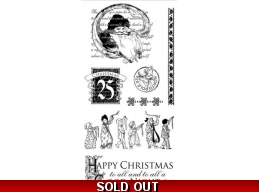 Graphic 45 'Twas The Night Before Christmas Cling Stamps  2 321