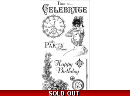 Graphic 45 Time To Celebrate Cling Stamps  1 317