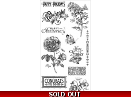 Graphic 45 Time to Flourish Cling Stamps  2 324