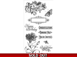 Graphic 45 Time to Flourish Cling Stamps  1 323
