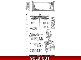 Graphic 45 Artisan Style Cling Stamp Set 2