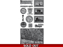 Graphic 45 Cityscapes Cling Stamp Set 2