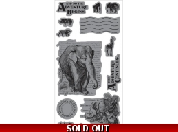 Graphic 45 Safari Adventure Cling Stamp Set - And So The Adventure Begins