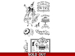 Graphic 45 Cafe Parisian Cling Stamp Set - 1