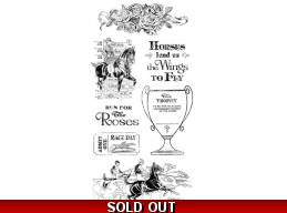 Graphic 45 Off To The Races Cling Stamp Set - 2