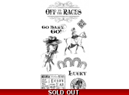 Graphic 45 Off To The Races Cling Stamp Set - 1
