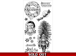 Graphic 45 St. Nicholas Cling Stamp Set - 1