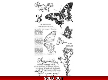 Graphic 45 Nature Sketchbook Cling Stamp Set - 1