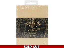 Graphic 45 Staples ATC Card Album Book Box 4.75