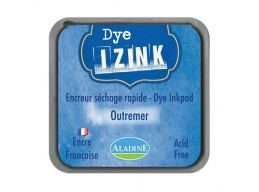 Izink Dye Based Stamp Pad - Outremer Overseas 8 x 8 cm