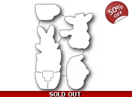 SALE Memory Box Bunny Tea Time Die Set