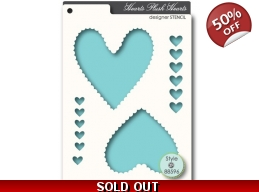 SALE Memory Box Plush Hearts Stencil