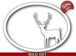 SALE Memory Box Standing Deer Oval Frame Die Set
