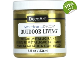 Brass | Americana Decor Outdoor Living Metallics 8oz