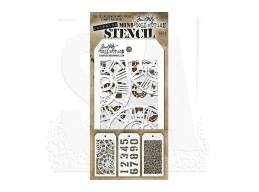 Stampers Anonymous, Tim Holtz , Mini Stencil Set 2