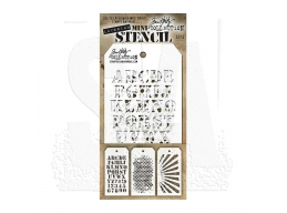Stampers Anonymous, Tim Holtz , Mini Stencil Set 5