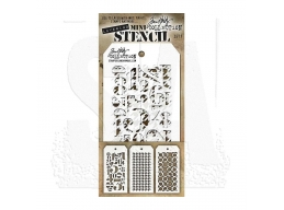 Stampers Anonymous, Tim Holtz , Mini Stencil Set 7