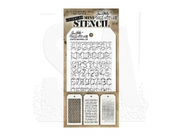 Stampers Anonymous, Tim Holtz , Mini Stencil Set 8