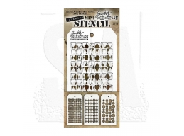 Stampers Anonymous, Tim Holtz , Mini Stencil Set 9