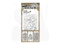 Stampers Anonymous, Tim Holtz , Mini Stencil Set 10