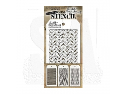 Stampers Anonymous, Tim Holtz , Mini Stencil Set 12