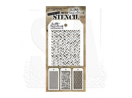 Stampers Anonymous, Tim Holtz , Mini Stencil Set 13