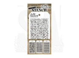 Stampers Anonymous, Tim Holtz , Mini Stencil Set 14